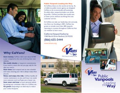 CalVan Employee Trifold Brochure