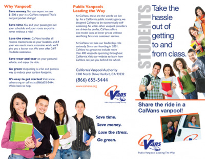Trifold Brochure for Students