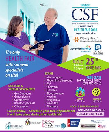 CSF Health Fair 2018 Flyer